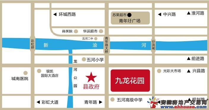 九龙花园交通图