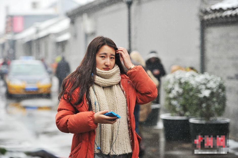 美女雪天赶考中戏 蚌埠房产网图片频道