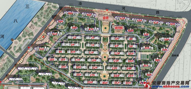 浍河欣城楼号图