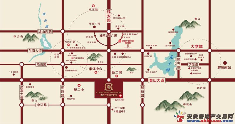 新威龙门悦府交通图