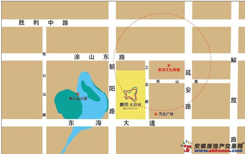 鹏欣·水游城交通图