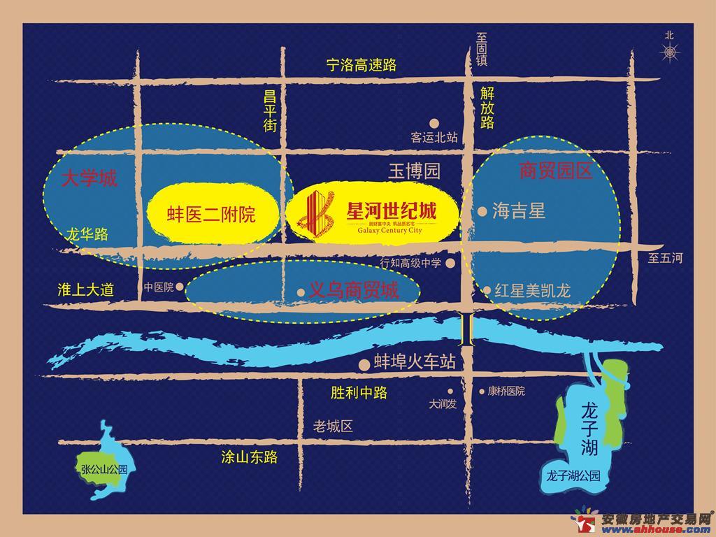 星河世纪城交通图