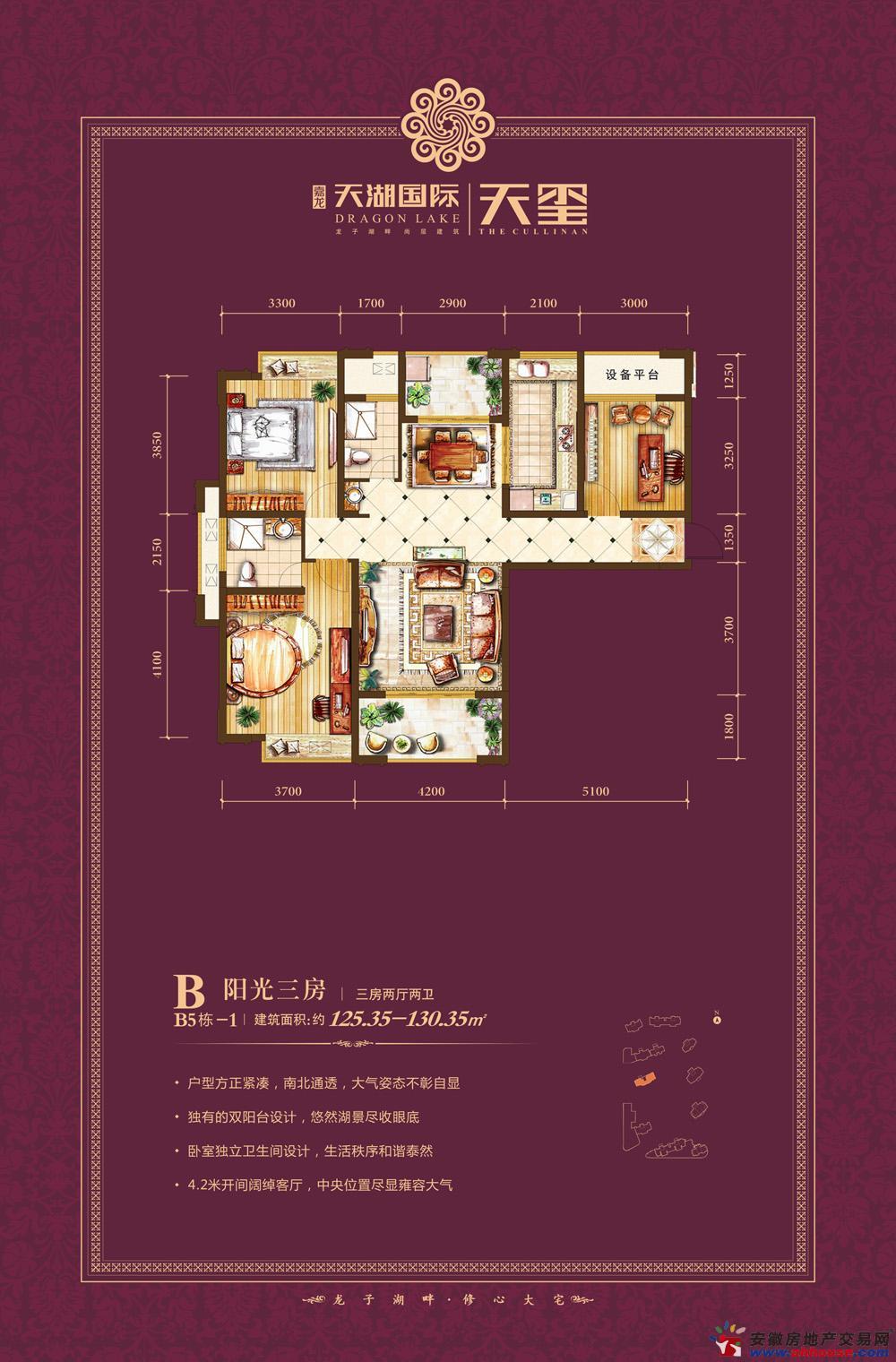 天湖国际_3室2厅2卫厨