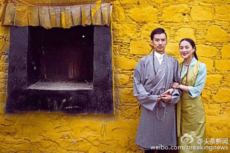 藏族新人结婚照走红