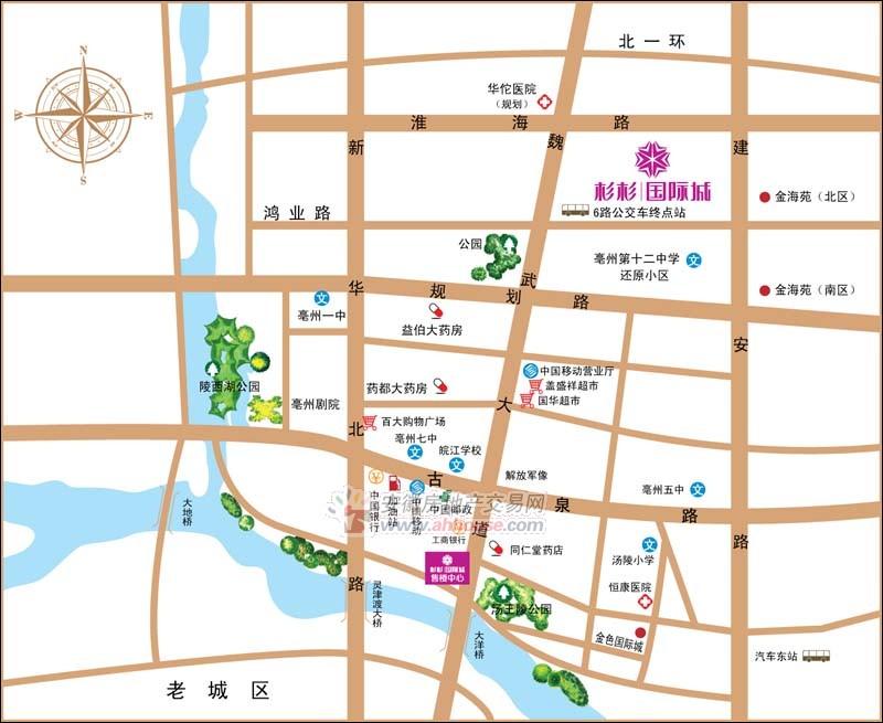 杉杉国际城交通图