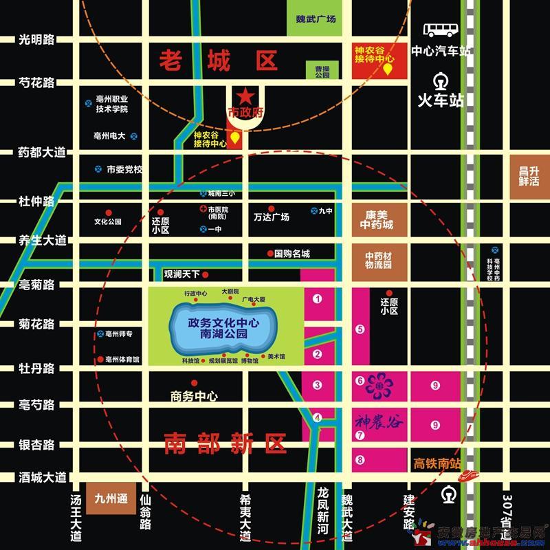 神农谷交通图