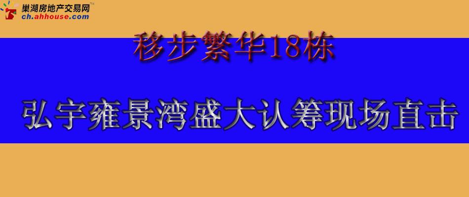 弘宇雍景湾盛大认筹直播