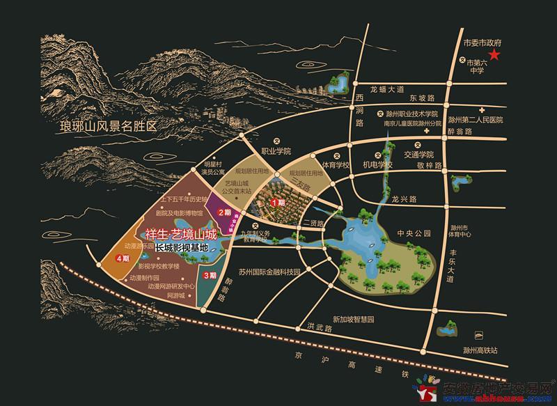 祥生艺境山城交通图