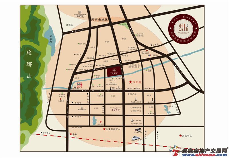 金鹏∙玫瑰郡交通图