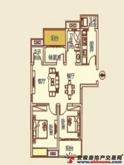 万霖远都_3室2厅1卫厨