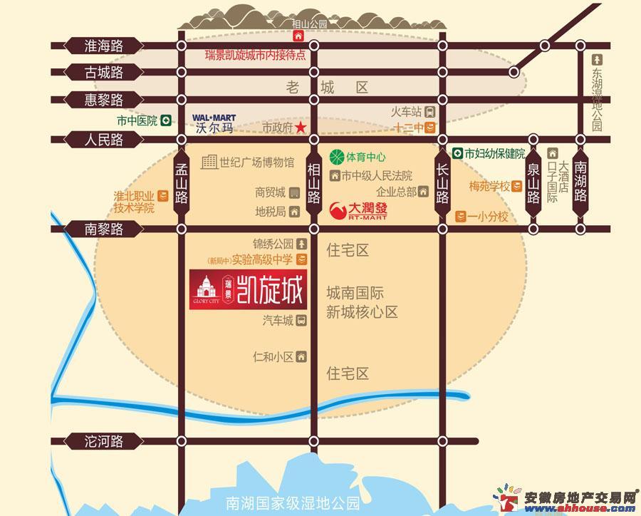 瑞景凯旋城交通图