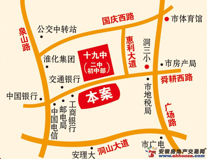 书香茗苑交通图