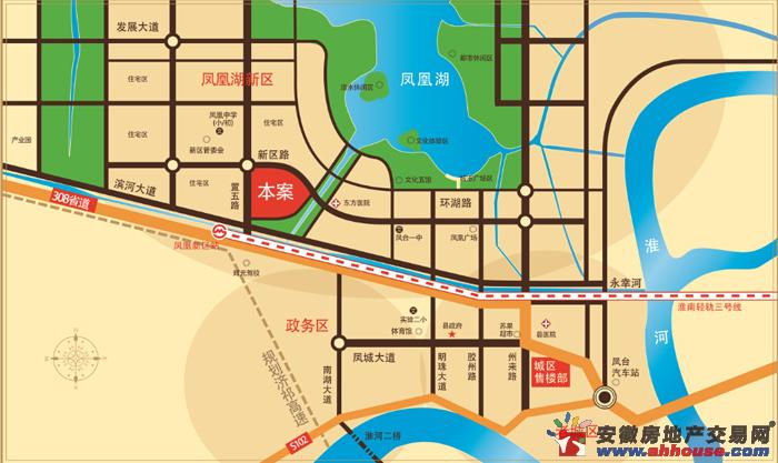 凤凰首府交通图