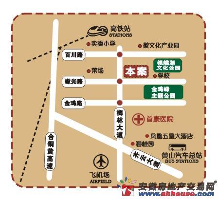 梅林国际交通图