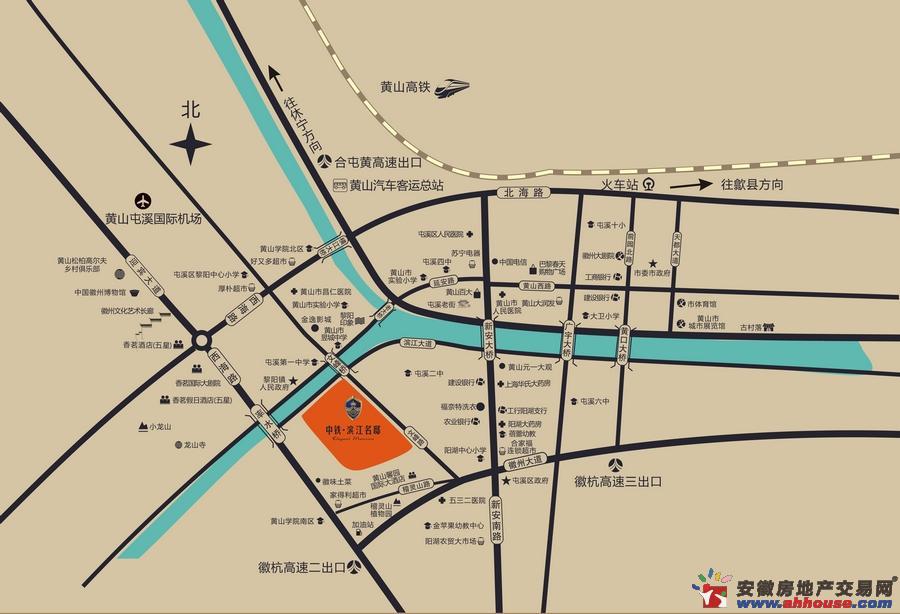 中铁滨江名邸交通图