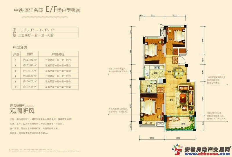 中铁滨江名邸三室二厅一卫