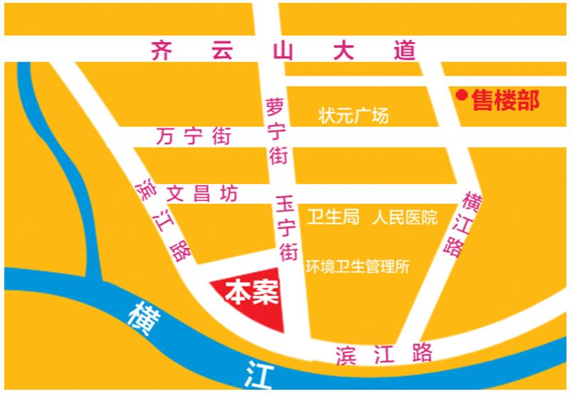 滨江福庭交通图