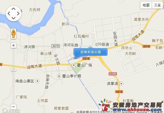 岳峰东湖兰庭交通图
