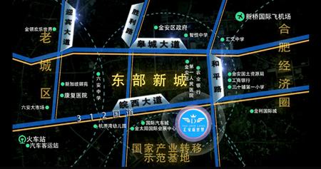 汇安新世界交通图