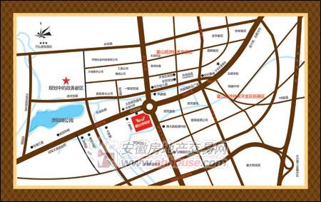 霍山汽贸城交通图