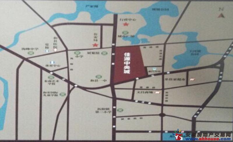 佳源中央城交通图