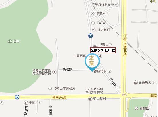 佳山墅交通图