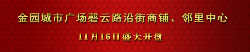 金园城市广场11月16日盛大开盘 惠动全城
