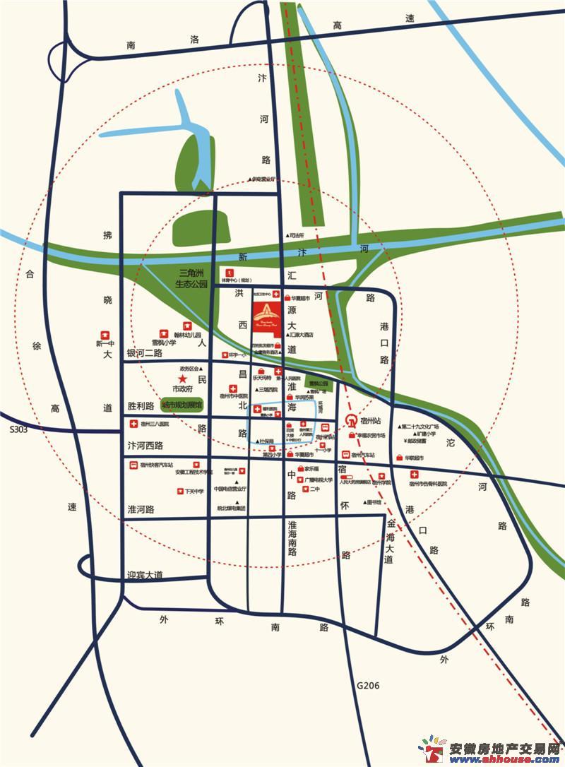 两淮·融景苑交通图