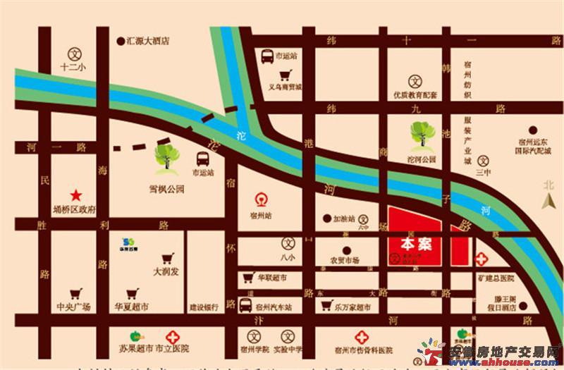 安厦·帝景名都交通图