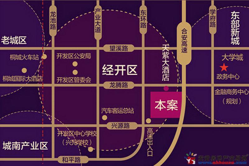 天紫·四季花城交通图