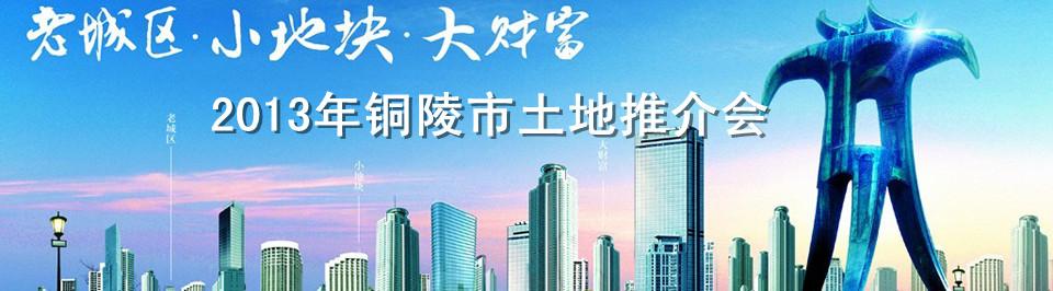 2013年铜陵市土地推介会10月22日荣耀开启