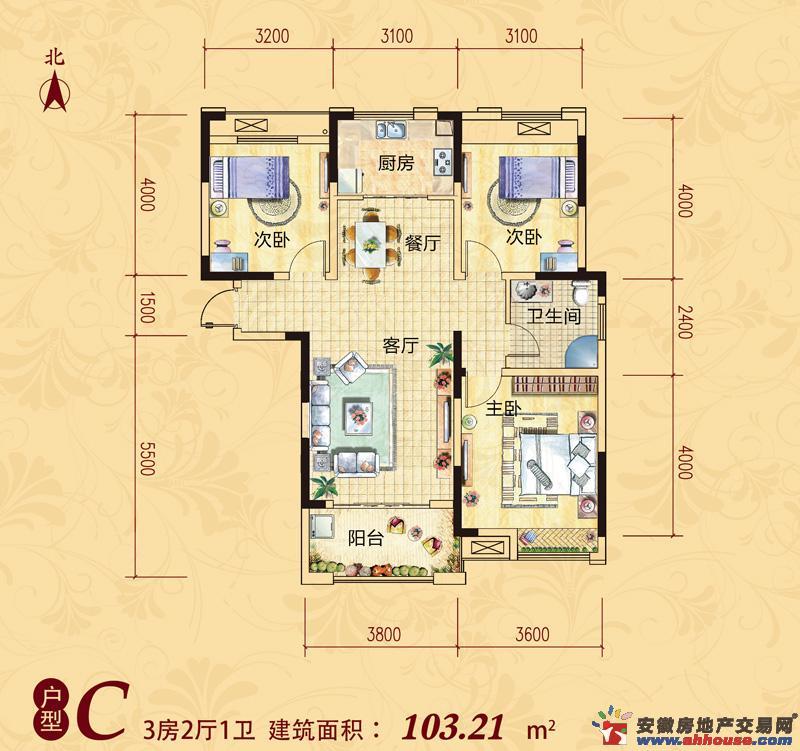 安粮兰桂花园_3室2厅1卫厨