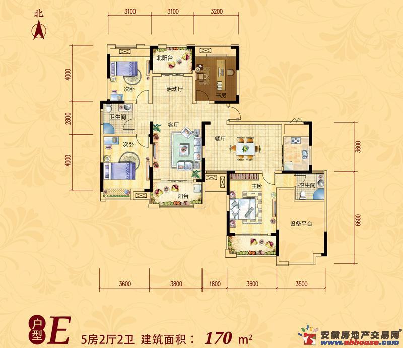 安粮兰桂花园_6室2厅1卫厨