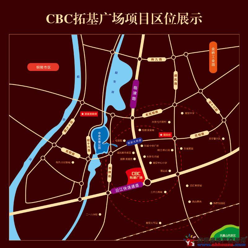 CBC拓基广场交通图