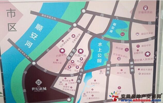 铜冠世纪新城交通图