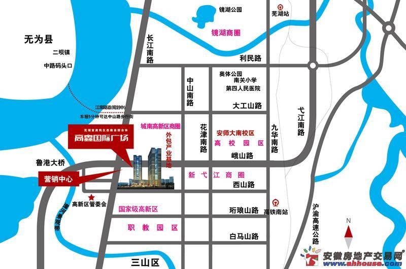 高鑫国际广场交通图