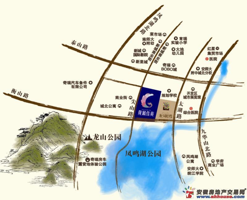 龙湖湾交通图