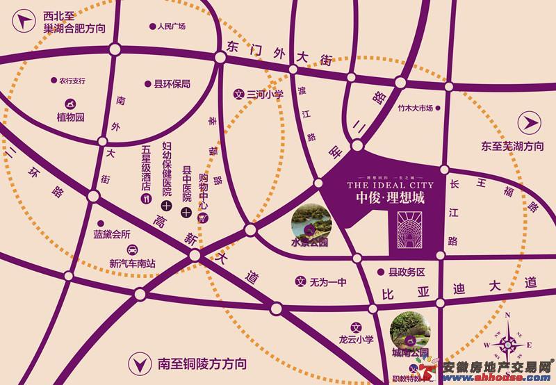 中俊理想城交通图