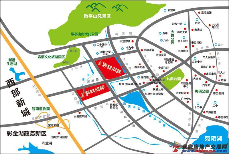 金銮御林河畔交通图