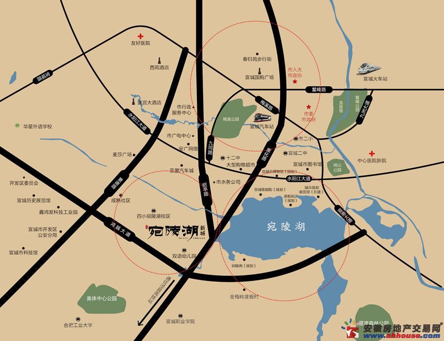 宛陵湖新城交通图