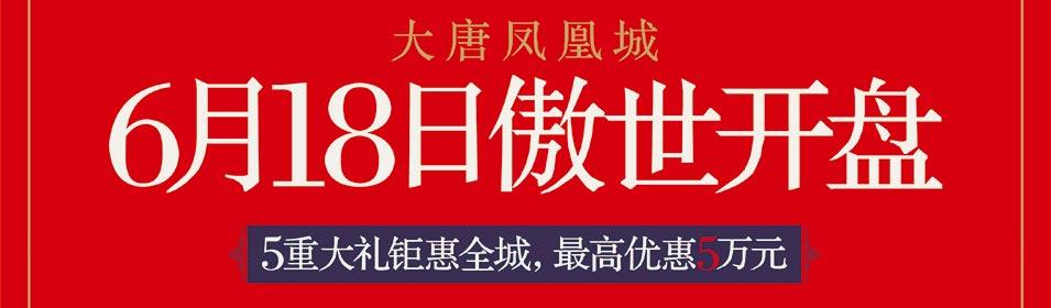 大唐凤凰城 首期精品公园美宅 6月18日傲世开盘