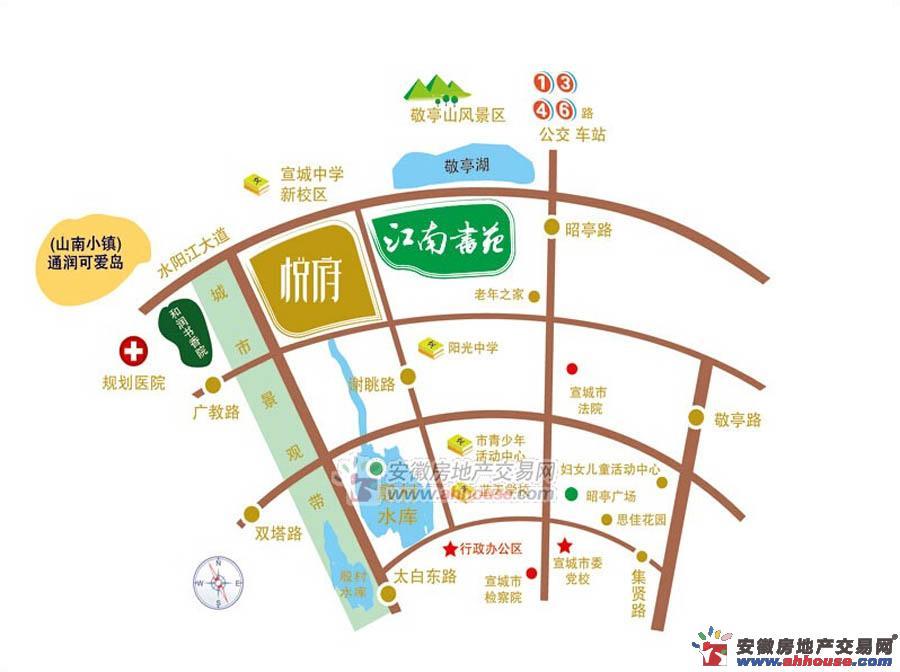 通和紫金城悦府周边环境图