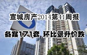 宣城房产2014第41周报:备案171套 环比量升价跌