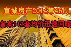 宣城房产2014第46周:备案112套 均价迅速回暖