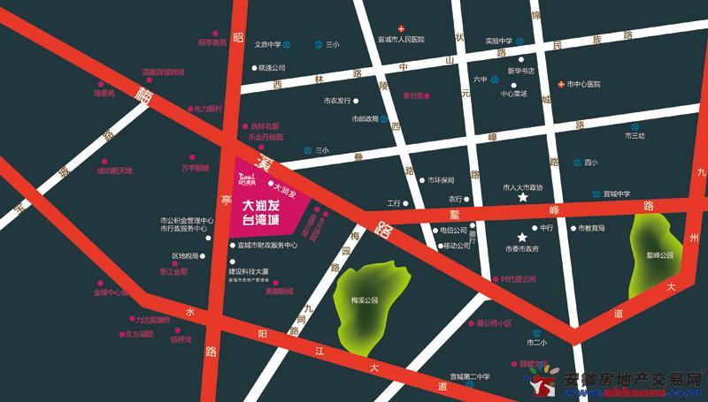 大润发台湾城交通图