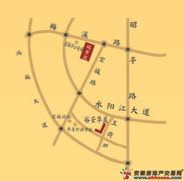 瑞景苑交通图
