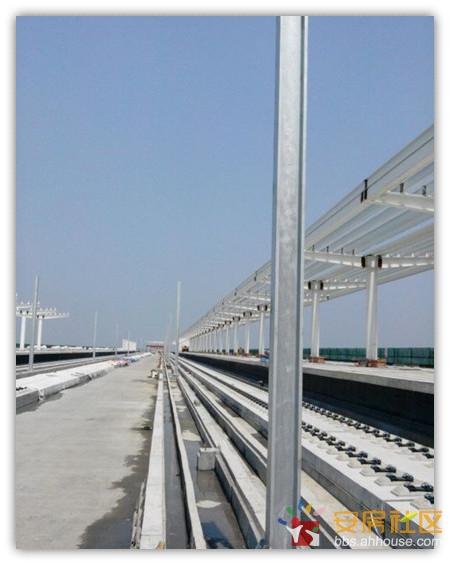 芜湖市无为高铁站房和轨道建设工程最新进度哦 高铁规格果