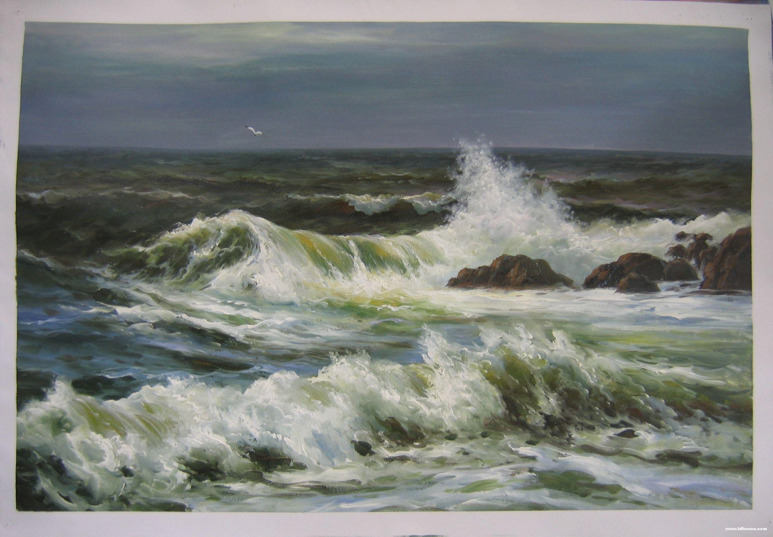 几幅海景油画,欣赏一下