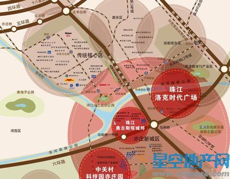 珠江四季悦城交通图
