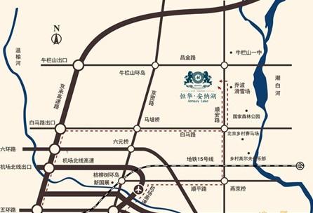 恒华·安纳湖交通图